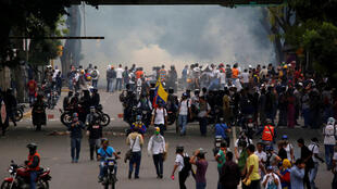 Des affrontements ont opposé manifestants hostile à Nicolas Maduro et forces de l'ordre à Caracas, au Venezuela.