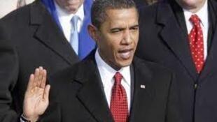 Первая президентская присяга Барака Обамы