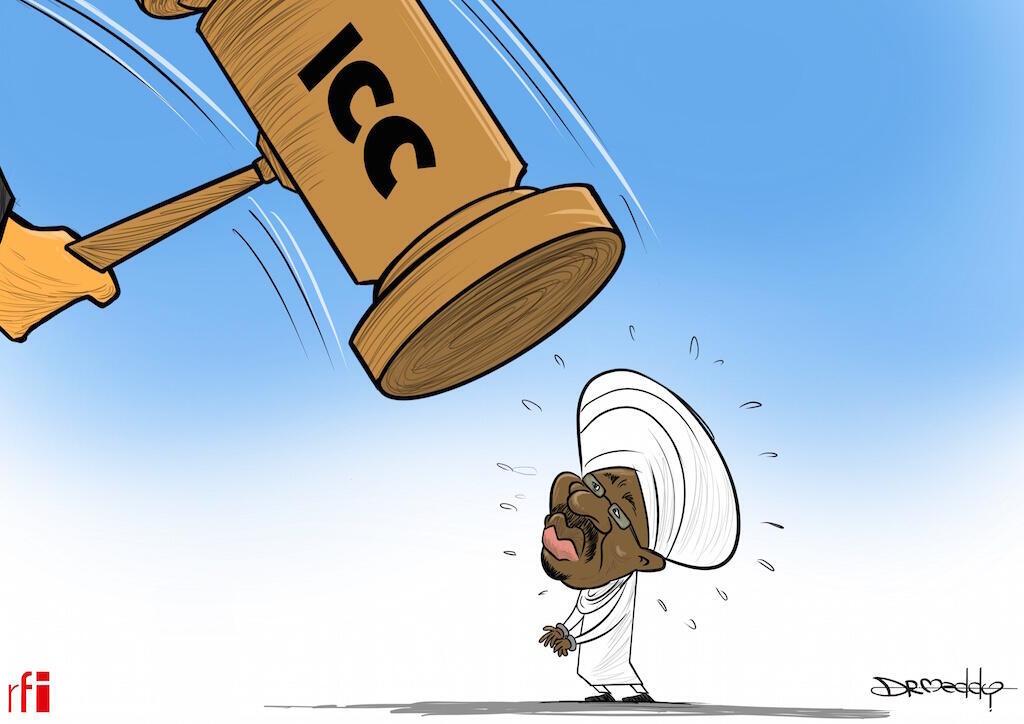Sudan: Kibonzo kikimuonesha rais wazamani za Sudan ambaye sasa atazasilishwa katika mahakama ya ICC 14/02/2020