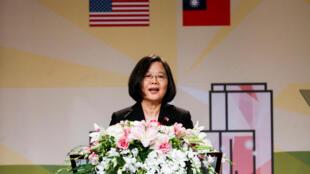 台灣中華民國總統蔡英文2018年8月12日過境美國時,在加州與海外僑胞會面。