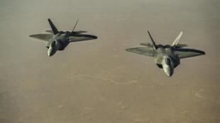 Hai chiến đấu cơ F-22 Raptor trên bầu trời Syria ngày 07/08/2017. Ảnh minh họa