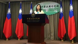 台灣外交部發言人在一次新聞發布會上 2020年2月11日