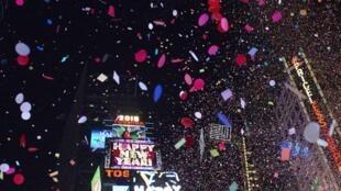 Comemoração do Ano Novo em Nova York.