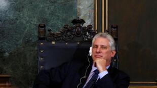 El nuevo presidente cubano Miguel Díaz-Canel a finales de marzo 2018.