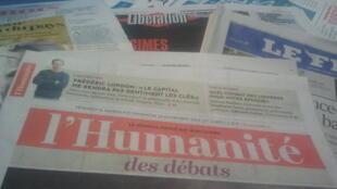Primeiras páginas dos jornais franceses 8 de novembro de 2019