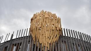 L'œuvre de l'artiste japonais Tadashi Kawamata intitulée «Les Nids».