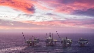 The Johan Sverdrup oil field, the third-largest on the Norwegian Continental Shelf, west of Stavanger, in the North Sea, on January 7, 2020