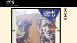 La page d'accueil du site web du festival de Street art de Jidar.