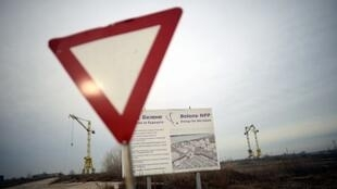 Le site de Béléné (nord), en janvier 2013, où était prévu la construction d'une nouvelle centrale nucléaire. Le projet a été abandonné depuis.