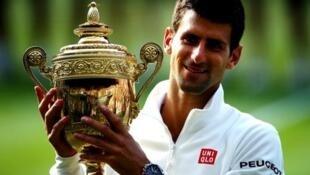 Novak Djokovic beat Roger Federer in the 2014 Wimbledon final