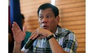 Presidente eleito das Filipinas, Rodrigo Duterte