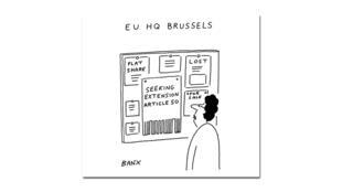 Jeremy Banks, alias Banx, croque tous les épisodes du Brexit dans le Financial Times.