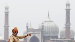 Indian Prime minister Narendra Modi on 15 August, 2015 in New Delhi.