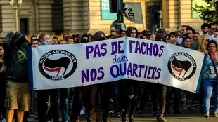 A demonstration against the opening of a bar linked to Génération Identitaire in Lille last year