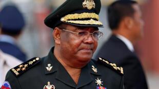 Tướng Cam Bốt Hing Bun Hieng. Ảnh chụp ngày 27/04/2018, tại Phnom Penh.