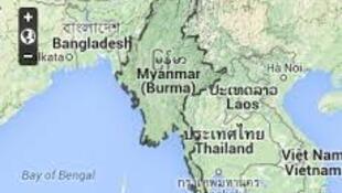 Bản đồ Miến Điện.