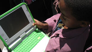 A non-profit organisation delivers free laptops and tablet computers to children worldwide