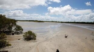 The site where the Kenyan government wants to build a coal-fired power station in the coastal area of Lamu, February 2020.