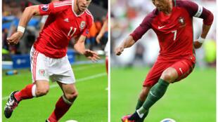 El galés Gareth Bale y el portugués Cristiano Ronaldo se enfrentarán este 6 de julio en la semifinal de la Eurocopa 2016.
