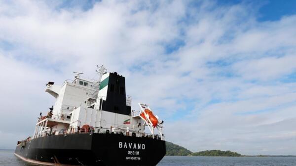O navio iraniano Bavand perto do porto de Paranaguá, em 18 de julho de 2019.