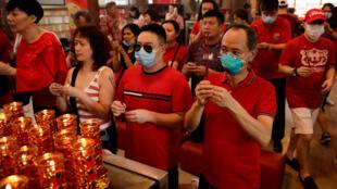 菲律宾首都马尼拉一唐人街农历新年活动2020年1月25日。