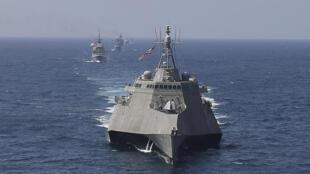 Ảnh minh họa chụp ngày 04/09/2019: Tàu chiến USS Montgomery của Hải quân Hoa Kỳ trong một cuộc tập trận hàng hải Mỹ-ASEAN.
