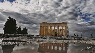 26ème édition des Rencontres Averroès. L'ancien temple du Parthénon au sommet de l'Acropole à Athènes, Grèce.