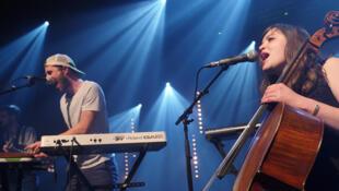 Des membres du groupe musical Placebo, au Printemps de Bourges 2017.