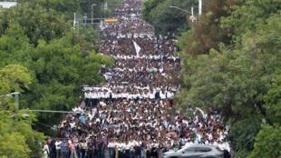 Miles de fieles marcharon en Guadalajara este 11 de agosto de 2019.