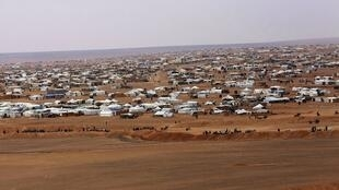 Campo de refugiados em Rukban, na Síria, perto da fronteira com a Jordânia
