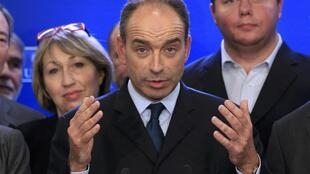 Jean-Francois Copé attends a news conference at the UMP political party headquarters after he won the leadership