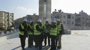 Arab League observers in Idlib