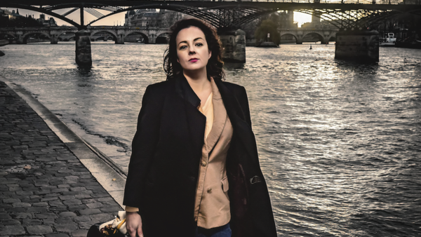 Australian singer-songwriter Francesca de Valence in Paris. January 2020