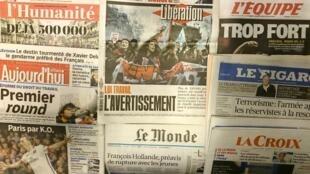 Diários Franceses desta quinta-feira 10 de Março de 2016.