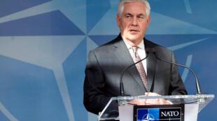 Le chef de la diplomatie américaine, Rex Tillerson, lors de sa première réunion à l'Otan, ce 31 mars 2017.