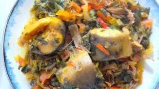Le marghi spécial, un plat nigérian très bon marché.