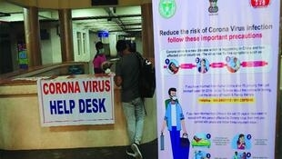 Messages d'alerte contre le coronavirus en Inde (image d'illustration).