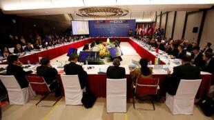Bộ trưởng Thương Mại các nước tham gia RCEP họp tại Hà Nội, Việt Nam ngày 22/05/2017.