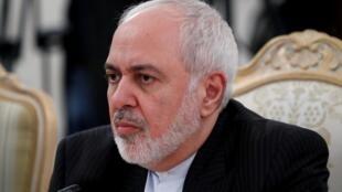 Ảnh tư liệu: Ngoại trưởng Iran Mohammad Javad Zarif trong cuộc hội đàm với đồng nhiệm Nga Sergei Lavrov, Matxcơva, ngày 30/12/2019