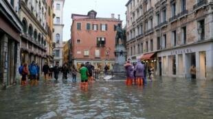 Les rues de Venise sous les eaux, le 15 novembre 2019.