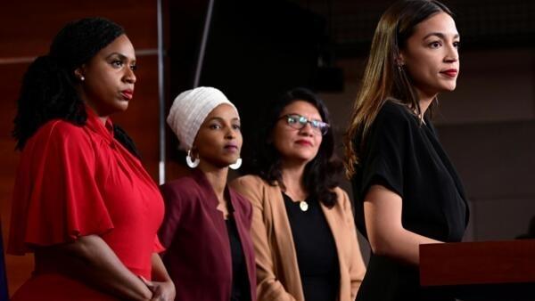 遭美國總統特朗普抨擊的四名女眾議員。