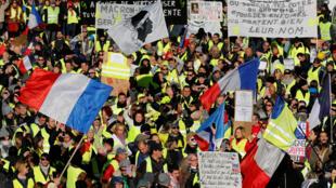 """Một cuộc biểu tình của những người """"Áo Vàng"""" tại Marseille, 15/12/2018."""