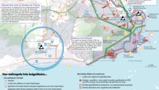 O jornal francês Le Monde publicou nesta terça-feira, 25 de junho de 2013, um mapa detalhado das desigualdades sociais no Rio de Janeiro.