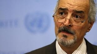 Посол Сирии при ООН Башар Джафари в штаб-квартире организации в Нью-Йорке 28/08/2013