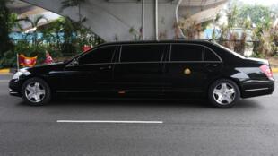 新加坡出现一辆疑似载有金正恩的汽车2018年6月10日