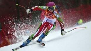 A esquiadora portuguesa Camille Dias