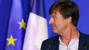 French Minister of ecological and social transition Nicolas Hulot attends a news conference in Paris on 6 July, 2017.