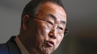 Пан Ги Мун в штаб-квартире ООН в Нью-Йорке 14/03/2014