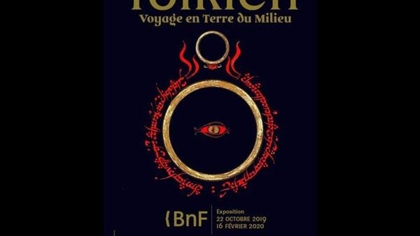 "Poster for ""Tolkien, voyage en Terre du Milieu"" at the Bibliotheque Nationale"