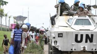 UN troops in Côte d'Ivoire